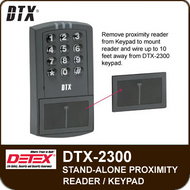 DTX-2300 - Single Door Stand-Alone Proximity Reader/Keypad