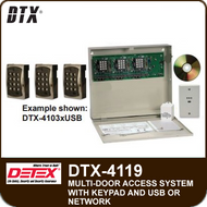 DTX-4119 - Access Control System for nine doors