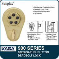 Simplex 900 Series 9020000 Mechanical Pushbutton Deadbolt Lock