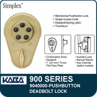 Simplex 900 Series 9040000 Mechanical Pushbutton Deadbolt Lock