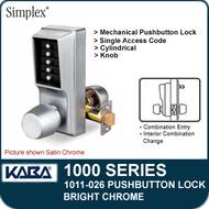 Simplex 1011-026 Mechanical Pushbutton Lock - Bright Chrome
