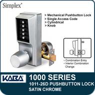 Simplex 1011-26D Mechanical Pushbutton Lock - Satin Chrome