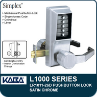 Simplex LR1011-26D - Mechanical Pushbutton Lock - Satin Chrome