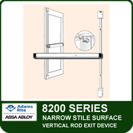 Adams Rite 8200 - Narrow Stile Surface Vertical Rod Exit Device
