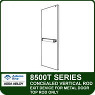 Adams Rite 8500T - Concealed Vertical Rod Exit Device for Metal Door - Top Rod Only
