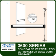 Adams Rite 3600 - Fire-rated Concealed Vertical Rod Exit Device for Metal Door