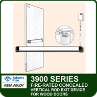 Adams Rite 3900 - Fire-rated Concealed Vertical Rod Exit Device for Wood Doors