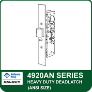 Adams Rite 4920AN - Heavy Duty Deadlatch (ANSI Size), Flat faceplate