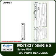 "Adams Rite MS1837 - Series MS® Two-Point Deadlock - Includes 4001-011 Strike, Cylinder Height other than 36"" (maximum cylinder height 65"")"