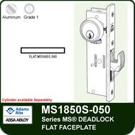 Adams Rite MS1850S-050 - Series MS® Deadlock, Flat Faceplate, any Handing