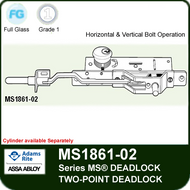 Adams Rite MS1861-02 Bottom Rail Deadbolt - Two-Point Deadlock, Horizontal and Vertical Operation