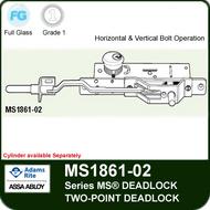 Adams Rite MS1861-02 Bottom Rail Deadbolt - Two-Point Deadlock, Horizontal and Vertical Operation