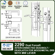 Adams Rite 2290 - Dual Force® Interconnected Deadbolt / Deadlatch for Wood or Hollow Metal Stile and Rail Doors - With MW Lever