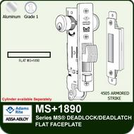 Adams Rite MS+1890 - Series MS® Deadlock/Deadlatch - Flat Faceplate