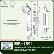 Adams Rite MS+1891 - Series MS® Deadlock/Deadlatch - Radius Faceplate