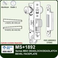 Adams Rite MS+1892 - Series MS® Deadlock/Deadlatch - Bevel Faceplate