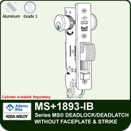 Adams Rite MS+1893-IB - Series MS® Deadlock/Deadlatch - Without Faceplate and Strike