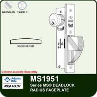 Adams Rite MS1951 - Series MS® Deadlock - Radius Faceplate