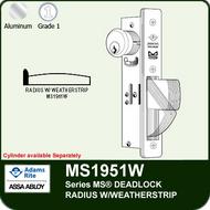 Adams Rite MS1951W - Series MS® Deadlock - Radius Faceplate with Weatherstrip