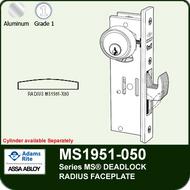 Adams Rite MS1951-050 - Series MS® Deadlock - Radius Faceplate