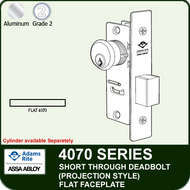 Adams Rite 4070 - Short Throw Deadbolt (Projection Style) - Flat Faceplate