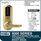 Simplex 5051-03 - Mechanical Pushbutton Cylindrical Lock - Bright Brass