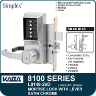 Kaba-Ilco Simplex 8100 Series Pushbutton Locks