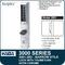 Simplex 3001-26D - Mechanical Pushbutton Narrow Stile Lock with Thumbturn for Aluminum Doors - Satin Chrome