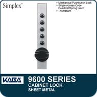 Simplex 9600 Series - Mechanical Pushbutton Cabinet Lock