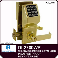 Alarm Lock Trilogy DL2700WP - Weather Proof Key Override