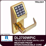 Alarm Lock Trilogy DL2700WPIC - Weatherproof Interchangeable Core