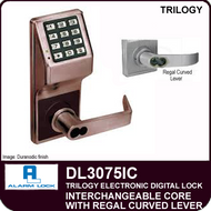 Alarm Lock Trilogy DL3075IC - Interchangeable Core with Regal Curved Lever