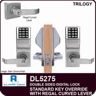 Alarm Lock Trilogy DL5275 - Standard Key Override with Regal Curved Lever