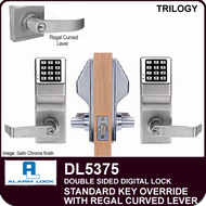 Alarm Lock Trilogy DL5375 - Standard Key Override with Regal Curved Lever