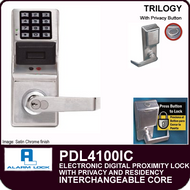 Alarm Lock Trilogy PDL4100IC - ELECTRONIC DIGITAL PROXIMITY LOCKS, WITH PRIVACY & RESIDENCY FEATURES - Interchangeable Core