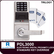 Alarm Lock Trilogy PDL3000 - ELECTRONIC DIGITAL PROXIMITY LOCKS - Standard Key Override