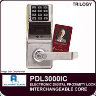 Alarm Lock Trilogy PDL3000IC - ELECTRONIC DIGITAL PROXIMITY LOCKS - Interchangeable Core