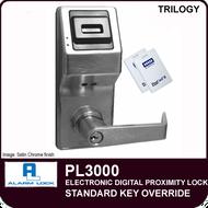 ELECTRONIC DIGITAL PROXIMITY Alarm Lock Trilogy PL3000 - Standard Key Override