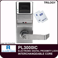 Alarm Lock Trilogy PL3000IC - ELECTRONIC DIGITAL PROXIMITY LOCKS - Interchangeable Core