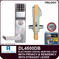 Alarm Lock Trilogy DL4500DB - ELECTRONIC DIGITAL MORTISE LOCKS, WITH PRIVACY & RESIDENCY FEATURES - Straight Lever Deadbolt Function