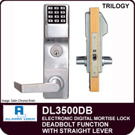 Alarm Lock Trilogy DL3500DB - ELECTRONIC DIGITAL MORTISE LOCKS - Straight Lever Deadbolt Function