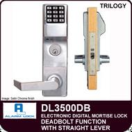 Alarm Lock Trilogy DL3500DB - ELECTRONIC DIGITAL MORTISE LOCKS - Straight Lever Deadbolt Function