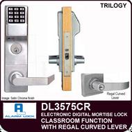 Alarm Lock Trilogy DL3575CR - ELECTRONIC DIGITAL MORTISE LOCKS - Regal Curved Lever Classroom Function