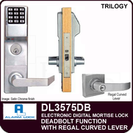 Alarm Lock Trilogy DL3575DB - ELECTRONIC DIGITAL MORTISE LOCKS - Regal Curved Lever Deadbolt Function