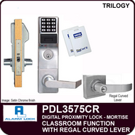 Alarm Lock Trilogy PDL3575CR - ELECTRONIC PROXIMITY MORTISE LOCKS - Regal Curved Lever Classroom Function