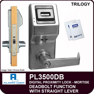 Alarm Lock Trilogy PL3500DB - ELECTRONIC PROXIMITY MORTISE LOCKS - Straight Lever Deadbolt Function