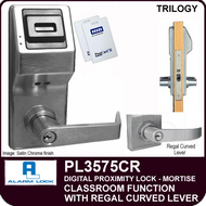 Alarm Lock Trilogy PL3575CR - ELECTRONIC PROXIMITY MORTISE LOCKS - Regal Curved Lever Classroom Function