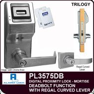 Alarm Lock Trilogy PL3575DB - ELECTRONIC PROXIMITY MORTISE LOCKS - Regal Curved Lever Deadbolt Function