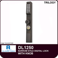 Alarm Lock Trilogy DL1250 - NARROW STYLE LOCK - With Knob