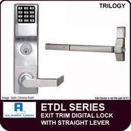 Alarm Lock Trilogy ETDL Series - EXIT TRIM - With Straight Lever